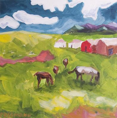 PaintingCO-ParkCtyHorses-6x6