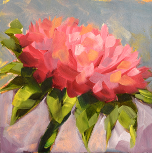 Colorado Pink Thistle Oil Painting